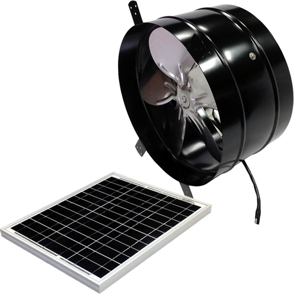 30-Watt 1650 CFM Black Gable Solar Attic Fan