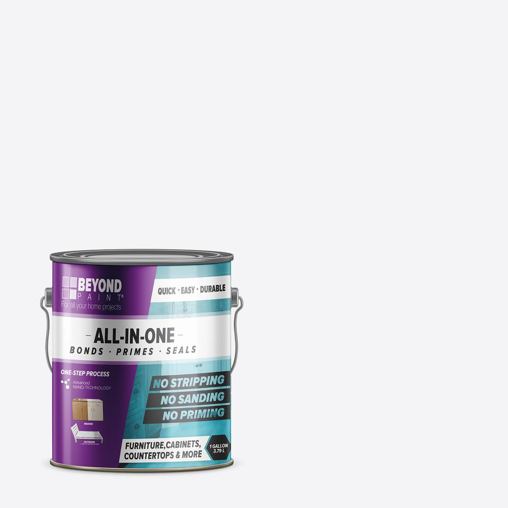 Beyond Paint 1 gal. Bright White Furniture, Cabinet, Countertop and More Multi-Surface All-in-One Interior/Exterior Refinishing Paint