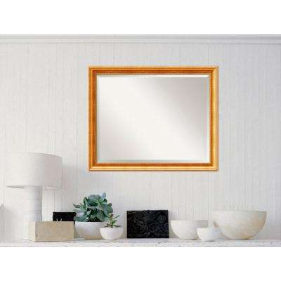 Townhouse Gold Wood 31 in. W x 25 in. H Traditional Framed Mirror
