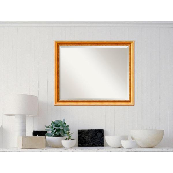 Amanti Art Townhouse Gold Wood 31 in. W x 25 in.