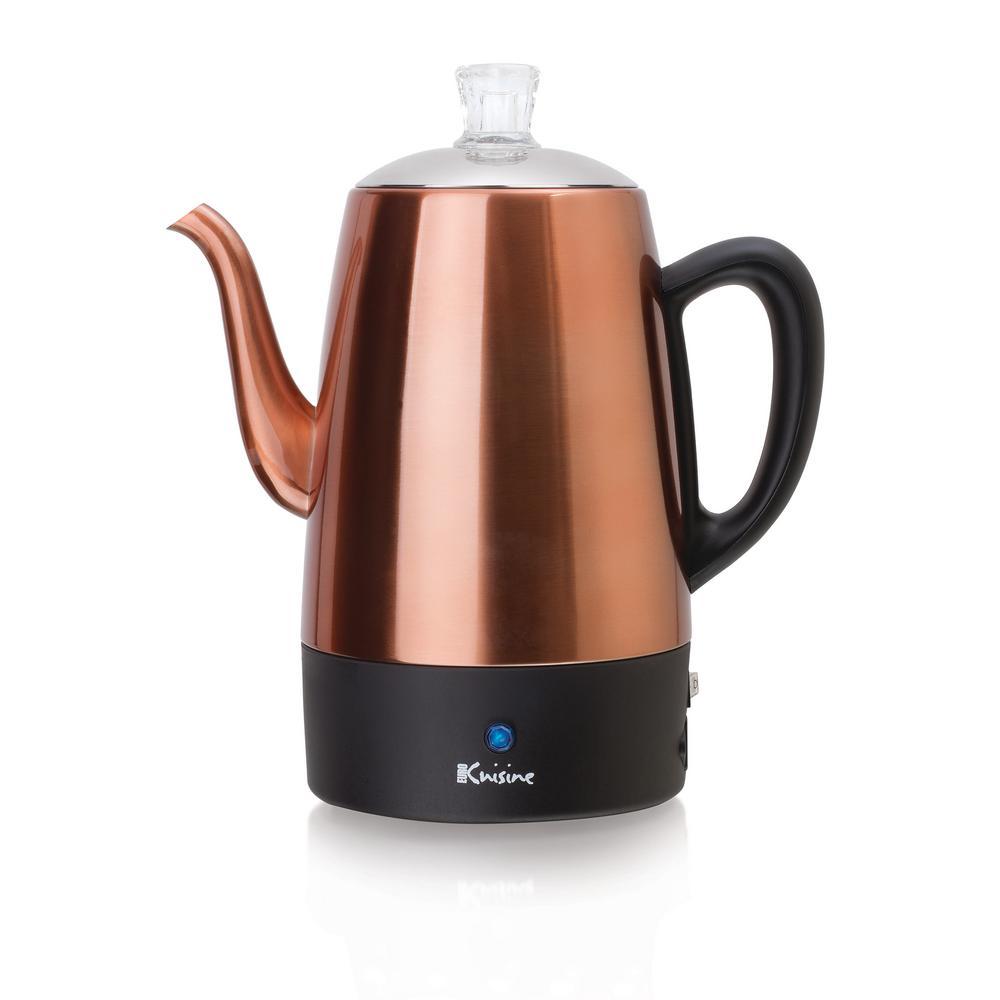 8-Cup Copper Electric Percolator