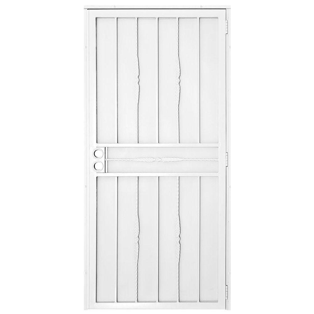 Exterior Screen Doors Home Depot: Unique Home Designs 30 In. X 80 In. Cottage Rose White