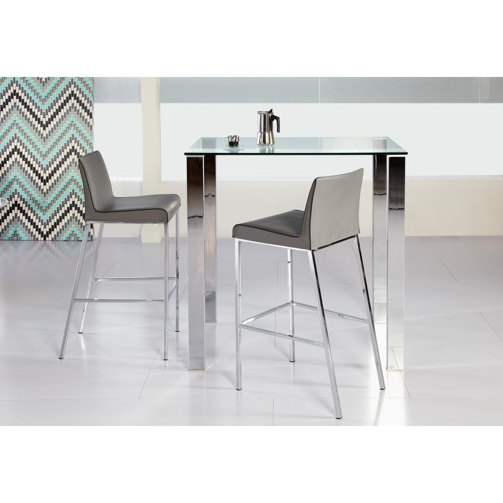 Beth Polished Stainless Steel Bar Table