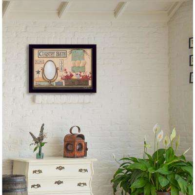 """14 in. x 18 in. """"Country Bath"""" by Pam Britton, Printed Framed Wall Art"""