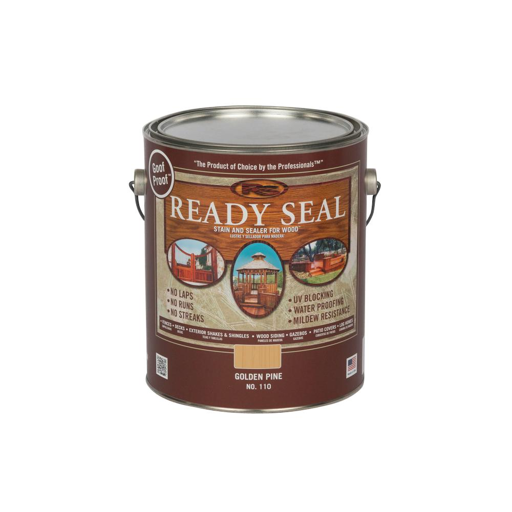 READY SEAL 1 gal. Golden Pine Exterior Wood Stain and Sea...