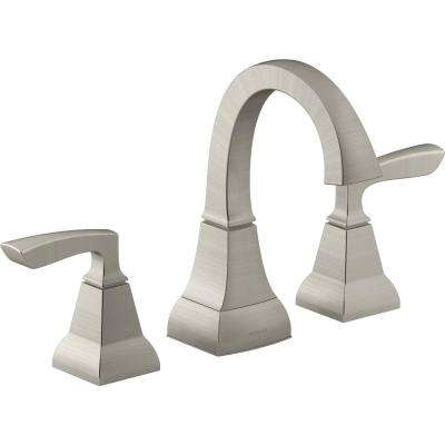 Kallan 8 in. Widespread 2-Handle Bathroom Faucet in Vibrant Brushed Nickel