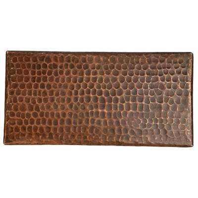 4 in. x 8 in. Hammered Copper Decorative Wall Tile in Oil Rubbed Bronze (4-Pack)
