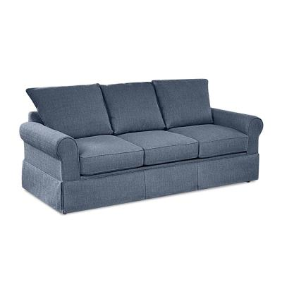 Addison 82 in. Denim Fabric 3-Seater Queen Sleeper Sofa Bed with Removable Cushions