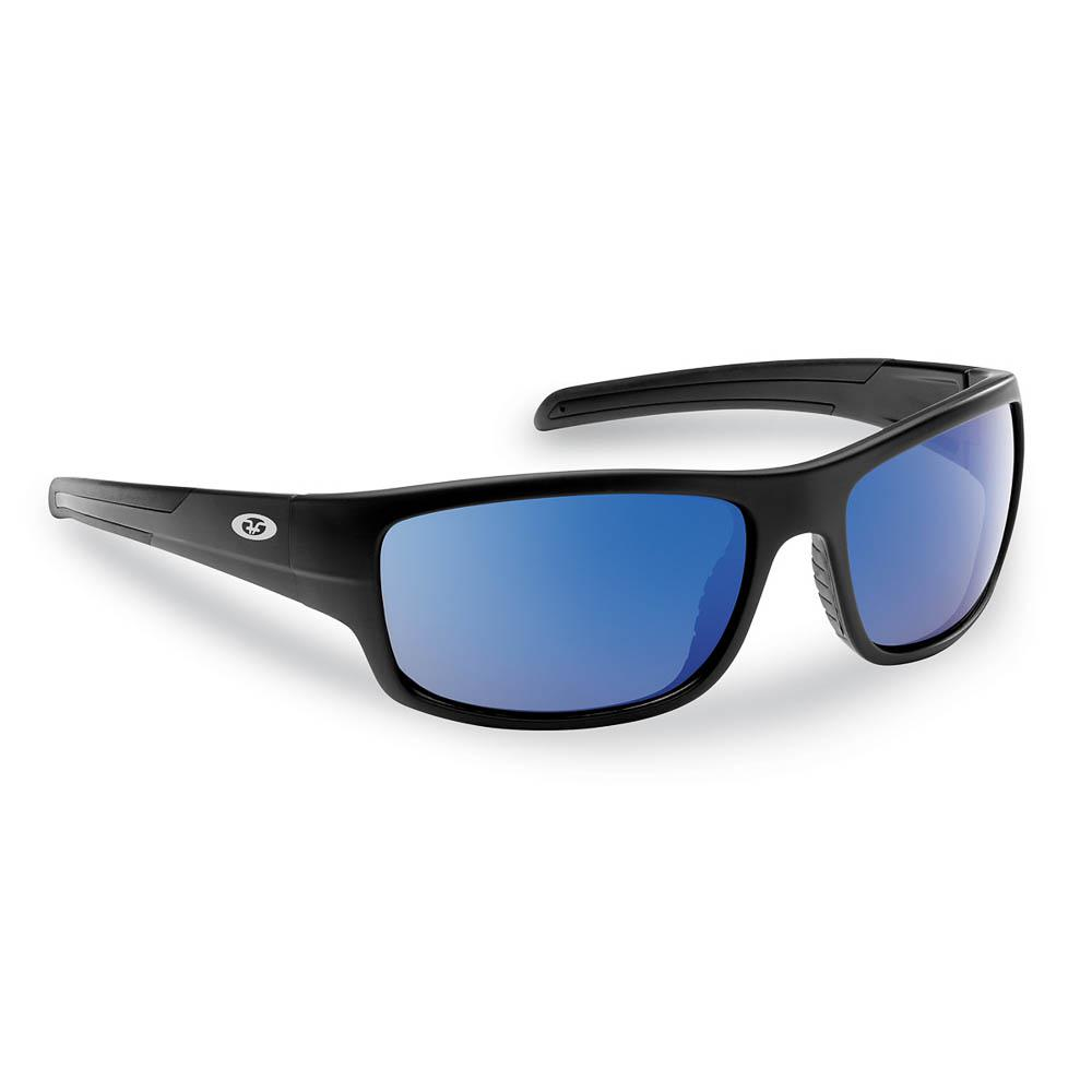 578478eec48 Shoal Polarized Sunglasses Matte in Black Frame with Smoke in Blue Mirror  Lens