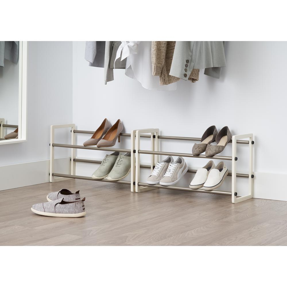 White Expandable Shoe Rack Tbfpnc 24062