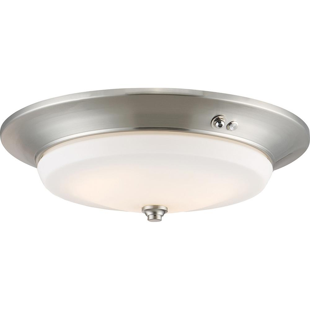 Filament Design 20-Watt Brushed Nickel Integrated LED