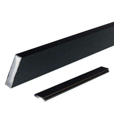 6 ft. Black Aluminum Wide Stair Picket and Spacer