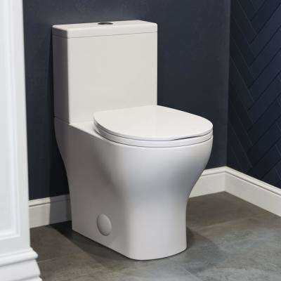 Sublime II 2-piece 0.8/1.28 GPF Dual Flush Round Toilet in Glossy White, Seat Included