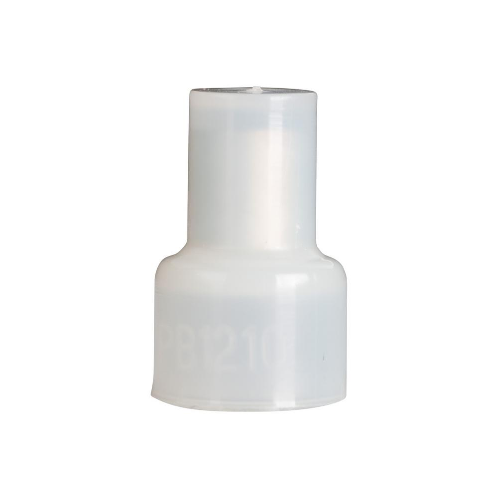 22-14 AWG Nylon Pigtail Connector White 10-Pack (Case of 10)
