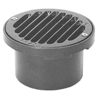 4 in. Round PVC Floor Drain with Nickel Top