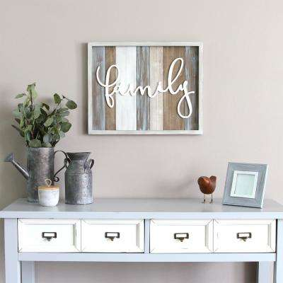 "Rustic ""family"" Wood Decorative Sign Wall Decor"