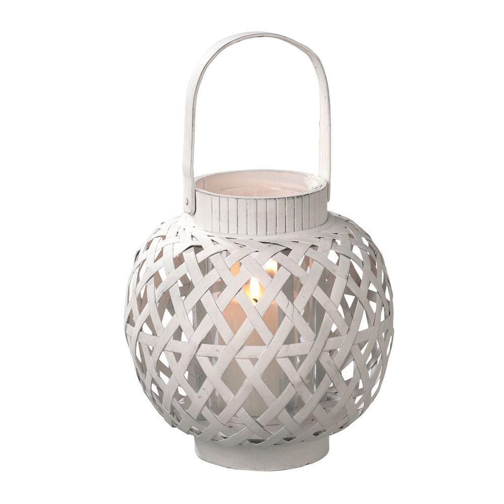 Filament Design Sundry 9.25 in. White Pillar Candle Holder