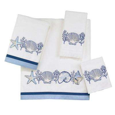 Nassau 4-Piece Bath Towel Set in White