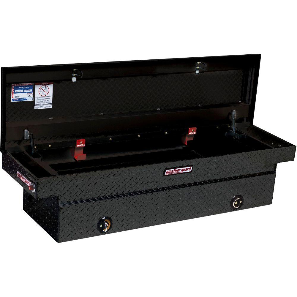 Weather Guard 72 Matte Black Aluminum Full Size Crossbed Truck Tool Box