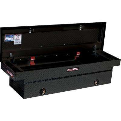 72 in. Black Aluminum Full Size Crossover Truck Tool Box