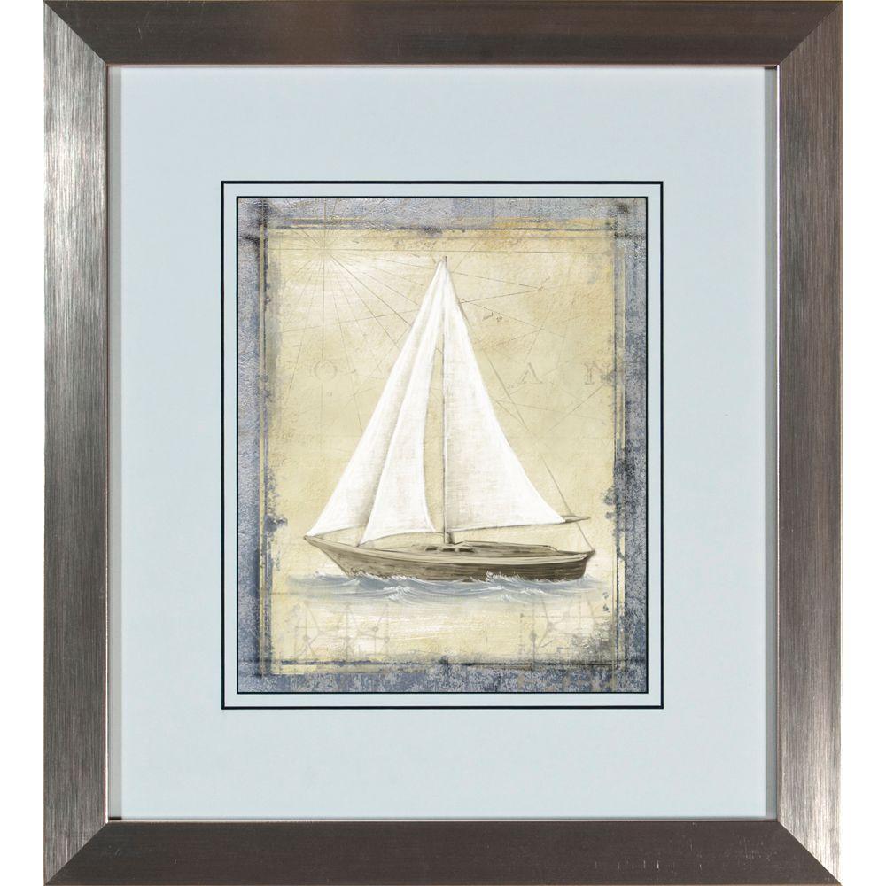 """18.5 in. x 20.5 in. """"Boat Sketch B"""" Framed Wall Art"""