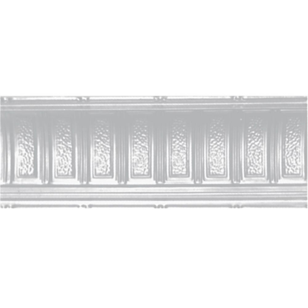 Shanko Home Interiors 6-pieces Powder-coated White Nail-up Tin Ceiling Cornice