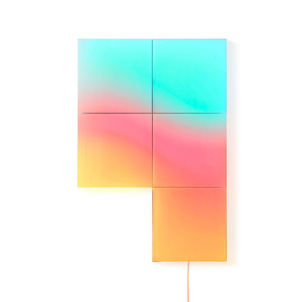 Multi-Color Wi-Fi Connected LED Light Tile Kit (5 Tiles)