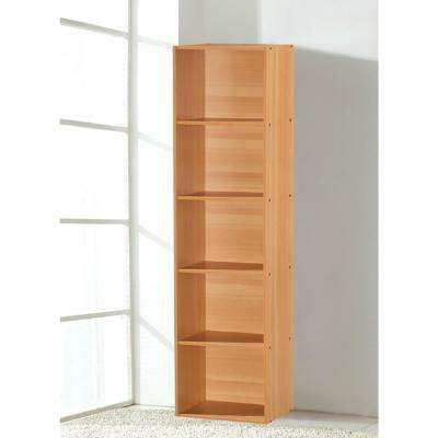5-Shelf, 59 in. H Beech Bookcase