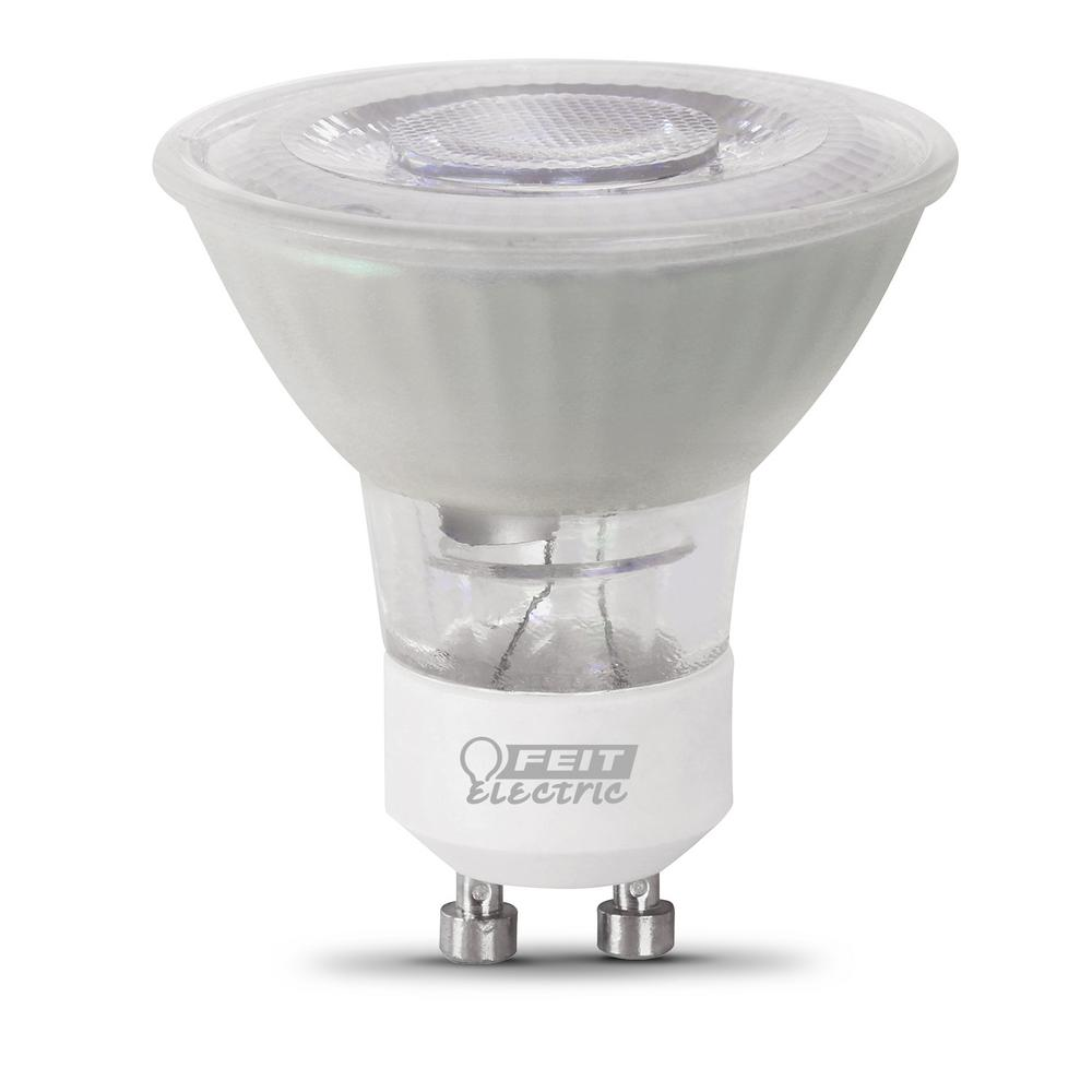 Feit Electric 50-Watt Equivalent MR16 GU10 Dimmable CEC Title 20 Compliant LED 90+ CRI Frosted Flood Light Bulb, Daylight