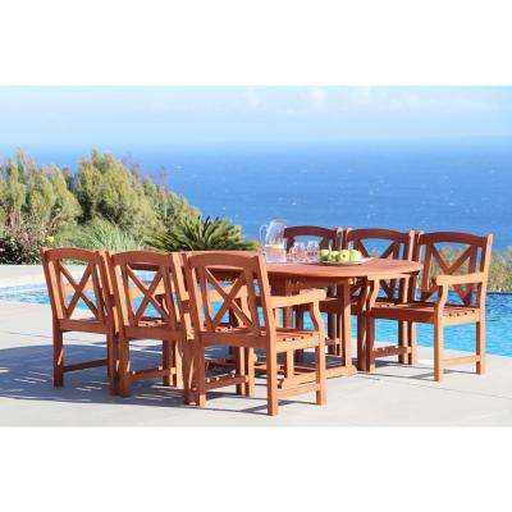 Malibu 7-Piece Oval Patio Dining Set