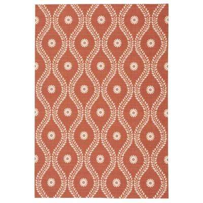 Corfu Rust 8 ft. x 11 ft. Indoor/Outdoor Area Rug