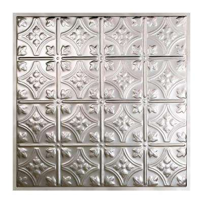Hamilton 2 ft. x 2 ft. Lay-in Tin Ceiling Tile in Clear