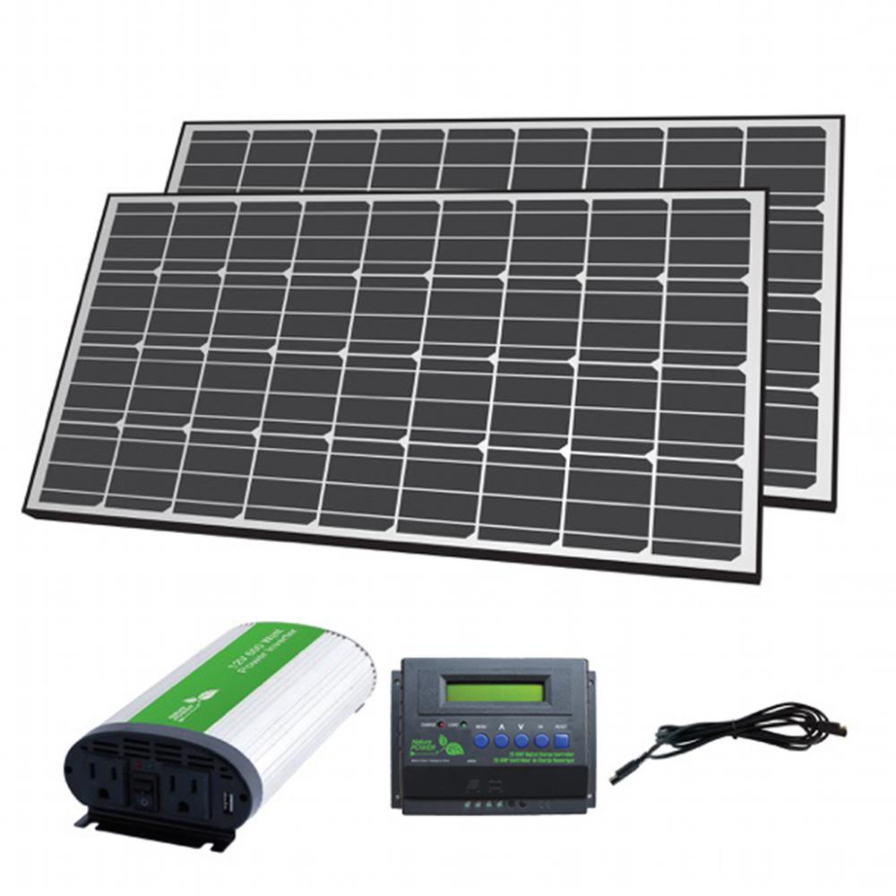 Nature Power 280-Watt Solar Panel Off-Grid Charger Kit