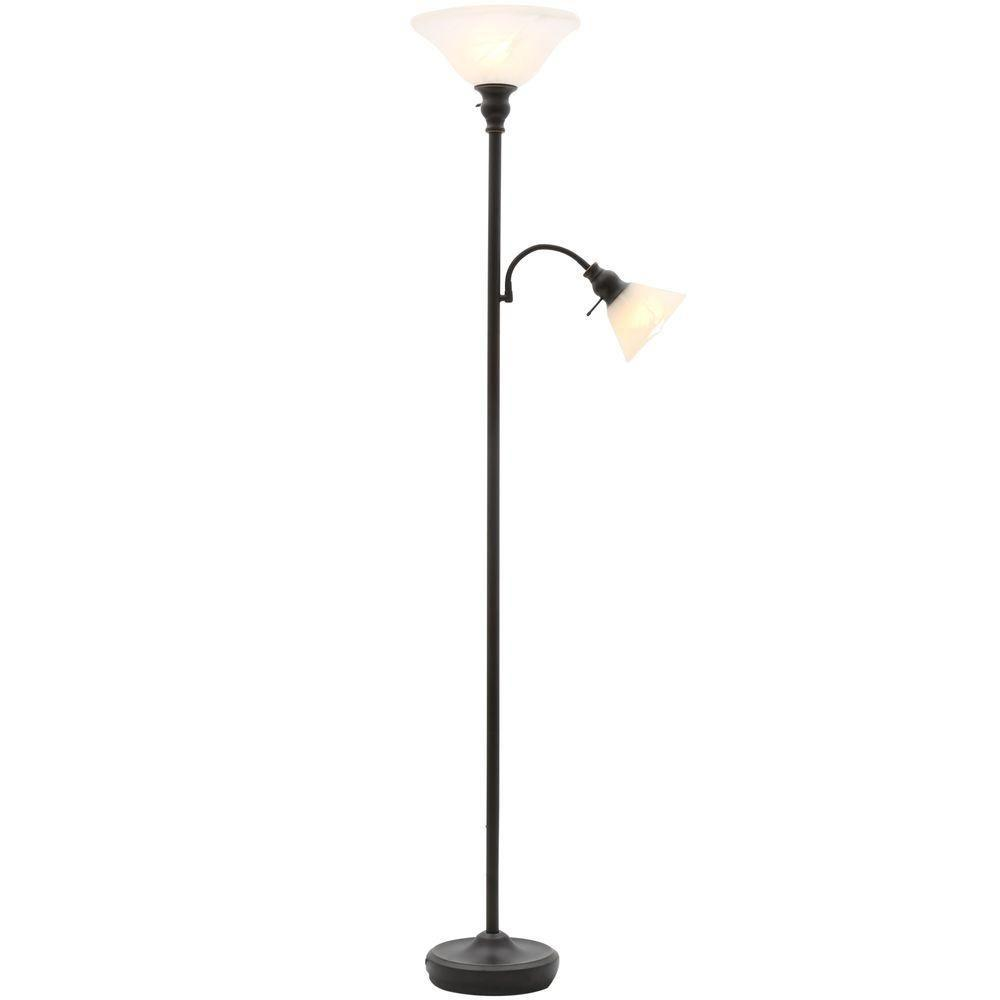 Antique Bronze Floor Lamp With Reading Light Ttl 20 Compliant Fixture