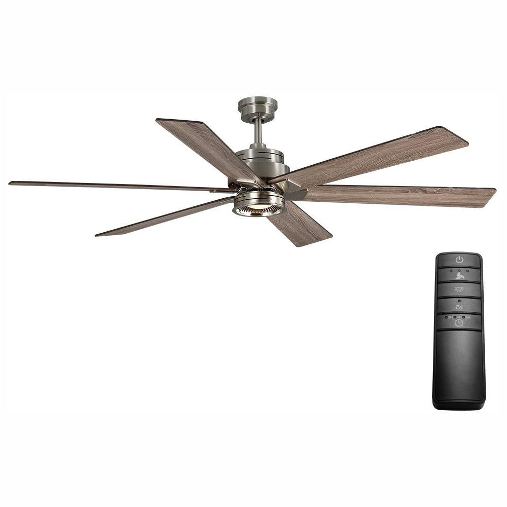 Home Decorators Collection Statewood 70 in. LED Brushed Nickel Ceiling Fan with Light Kit and Remote Control