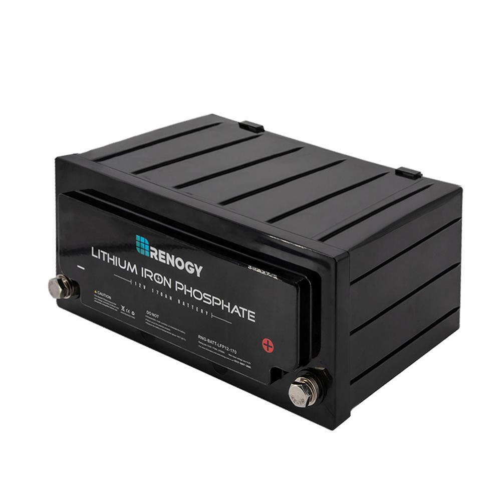 12-Volt 170Ah Lithium-Iron Phosphate Battery for Solar Sanels Solar System