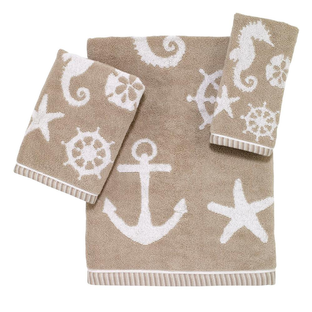 Sea and Sand 3-Piece Bath Towel Set in Sand