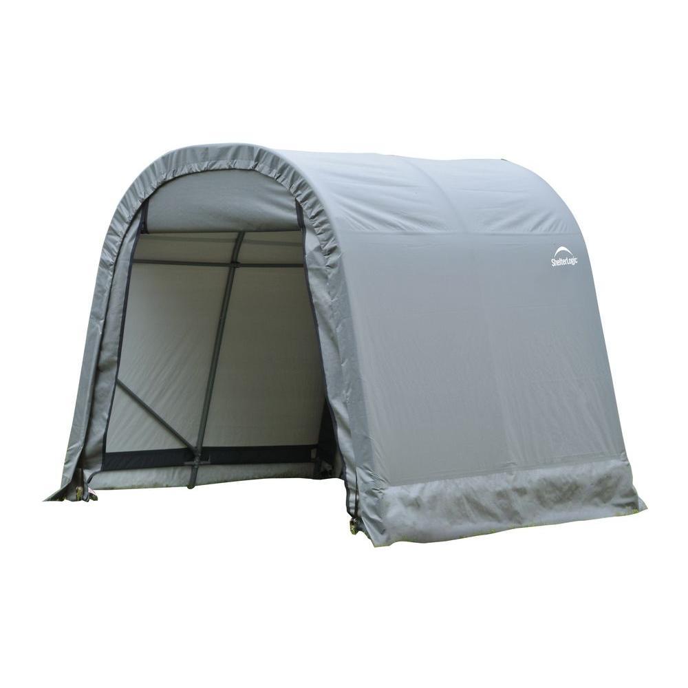 ShelterLogic 8 ft. x 8 ft. x 8 ft. Grey PE Garage without ...