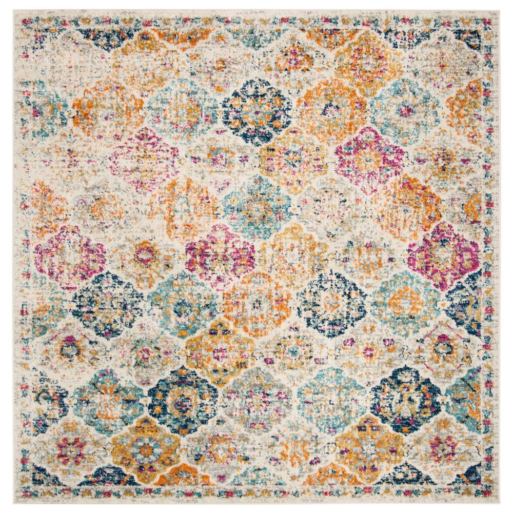23 x 4 Safavieh MAD611B-24 Madison Collection MAD611B Cream and Multi Area Rug