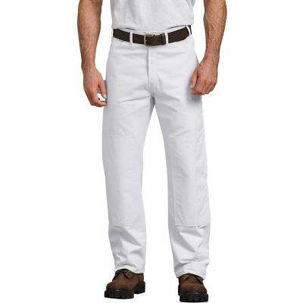 Men's White Painter's Double Knee Utility Pants 40x34