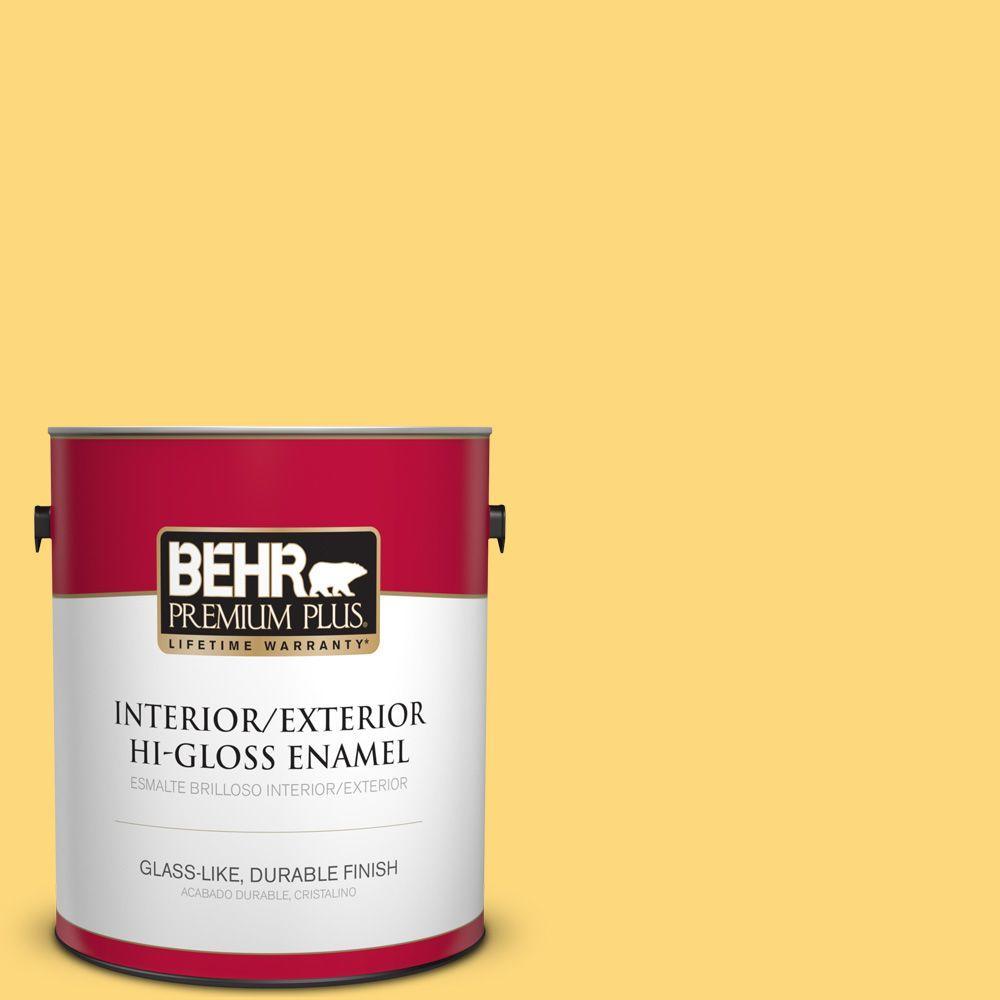 1 gal. #HDC-SM16-05 Deviled Egg Hi-Gloss Enamel Interior/Exterior Paint
