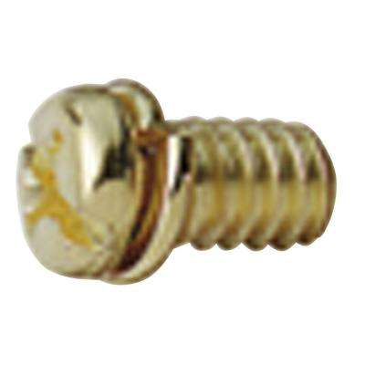 10 Piece Antique Brass Motor Screw Kit