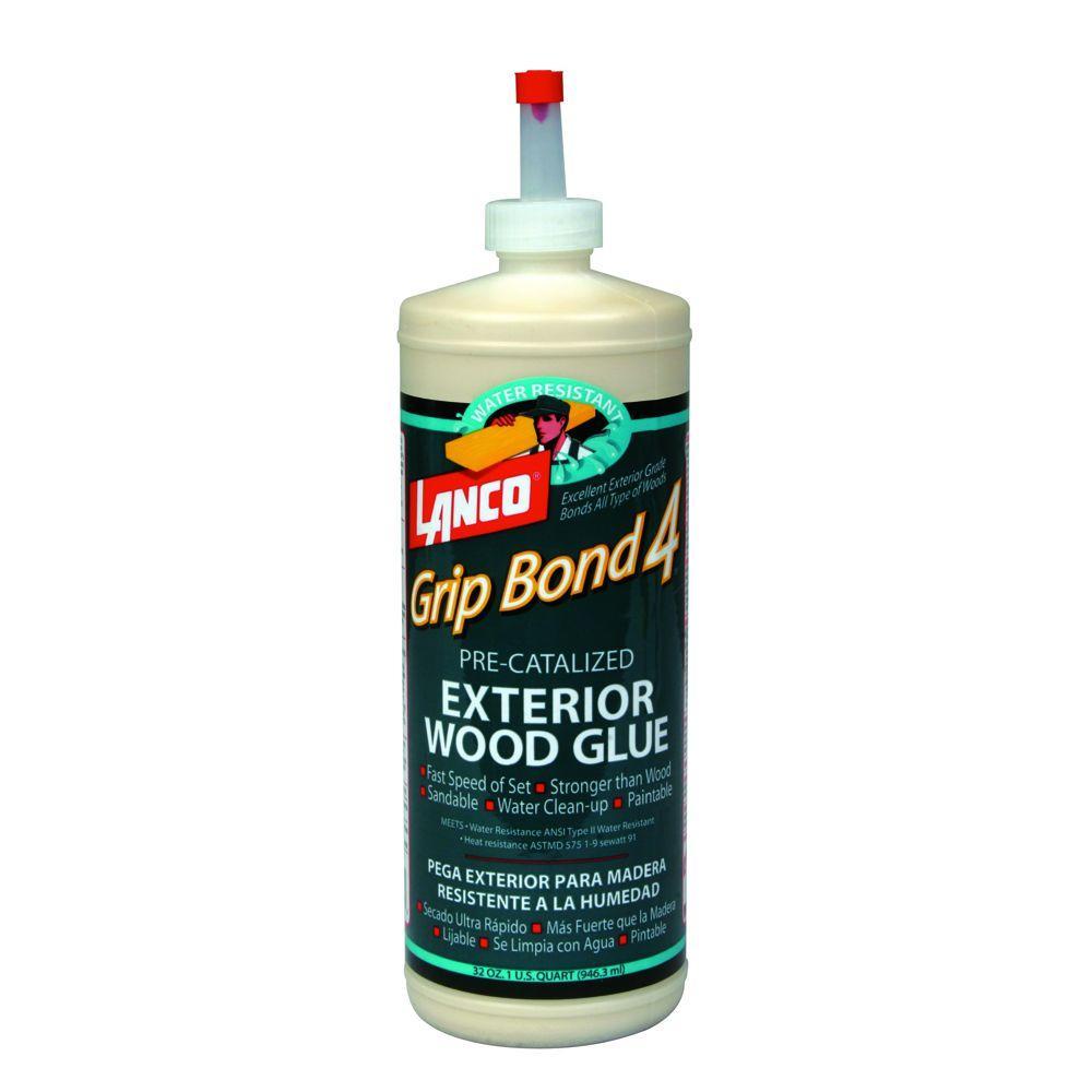 lanco grip bond four 32 fl oz pre catalyzed exterior wood glue