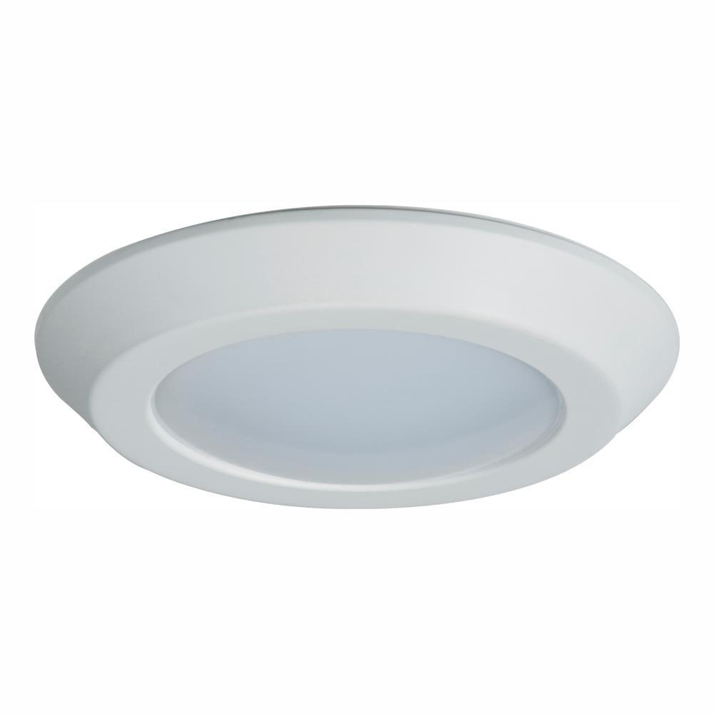 brand new 6e91c 18533 Halo BLD 6 in. White Integrated LED Recessed Ceiling Mount Light Trim at  3000K Soft White, Title 20 Compliant
