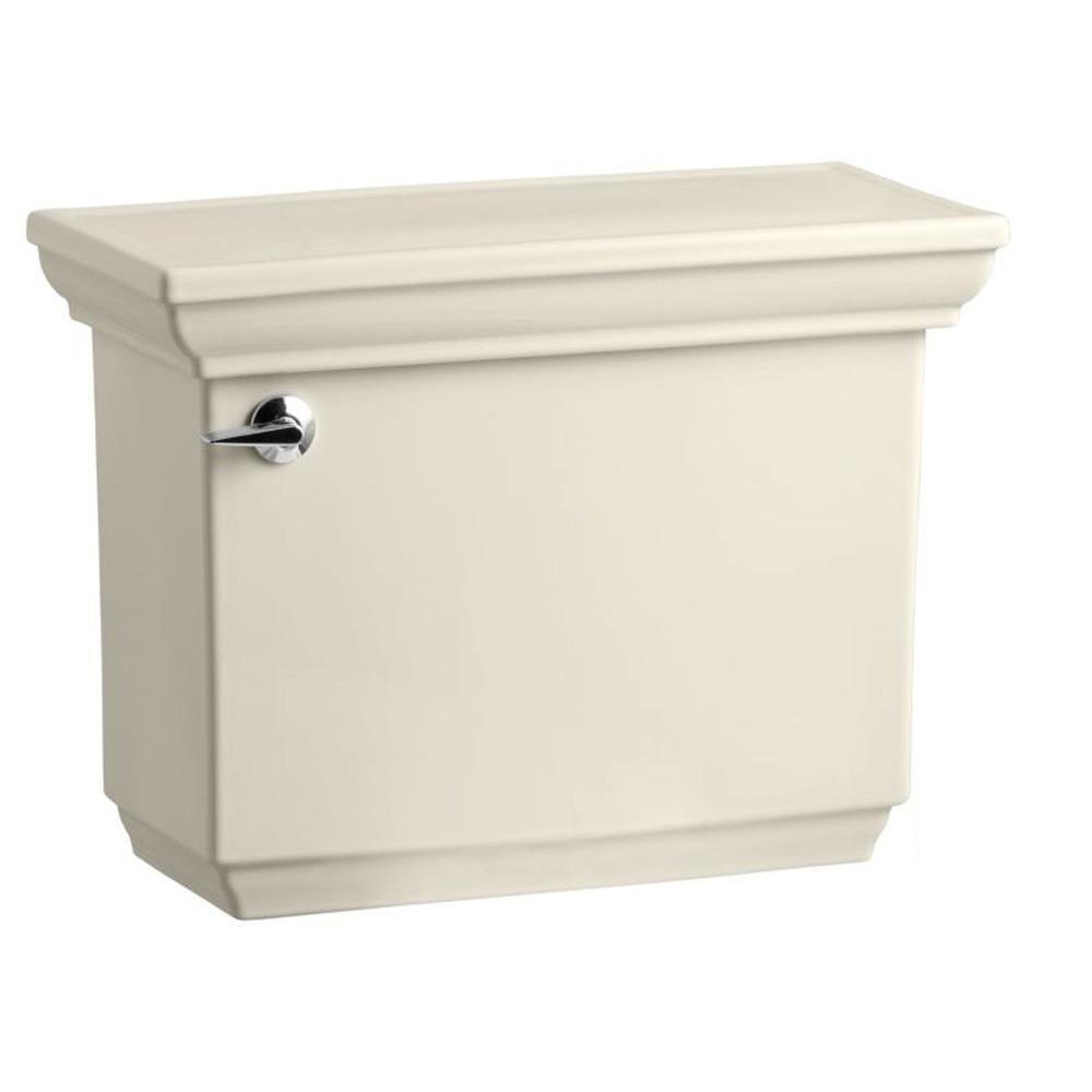 KOHLER Memoirs 1.28 GPF Single Flush Toilet Tank Only with AquaPiston Flush Technology in Almond