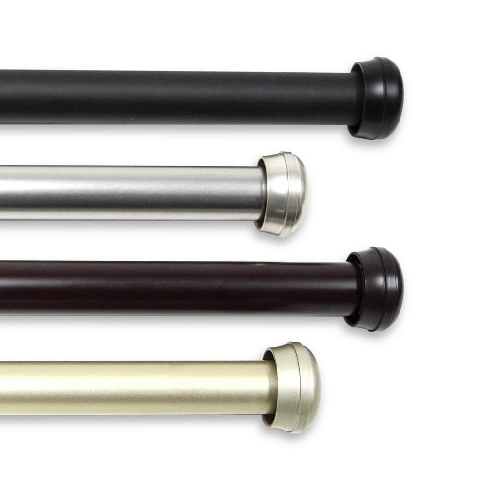 Rosen  160 in. - 240 in. 1 in. Curtain Rod in Satin Nickel