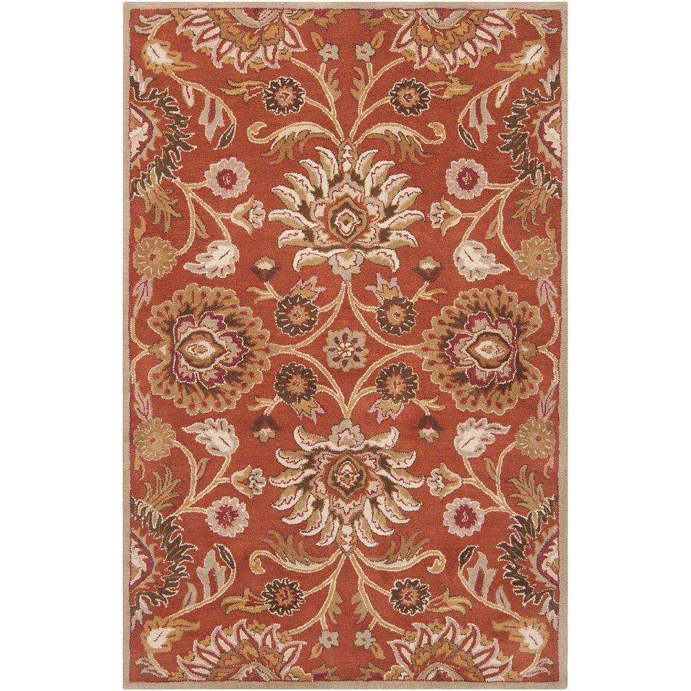Artistic Weavers Amanda Rust Wool 8 Ft X 10 Ft Area Rug
