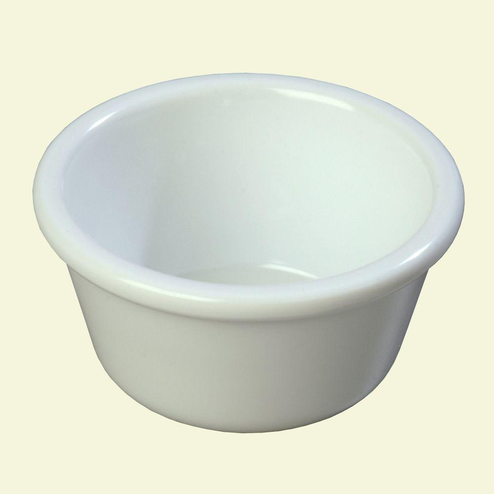 4 oz. Heavy Weight Melamine Smooth Sided Ramekin in White (Case