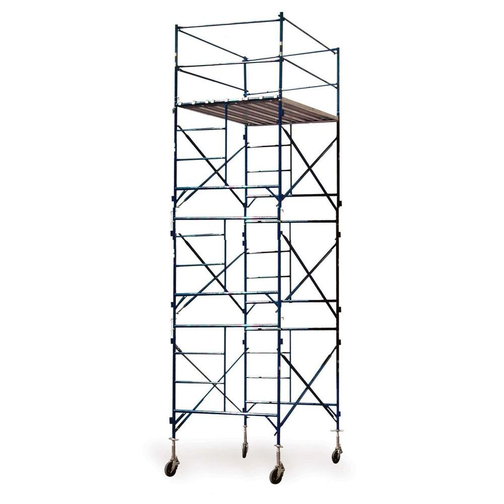 PRO-SERIES 16 ft. x 7'  x 5 ft. 3-Story Commercial Grade Rolling Scaffolding Tower Incudes StemJacks&Casters1500 lb. -DISCONTINUED
