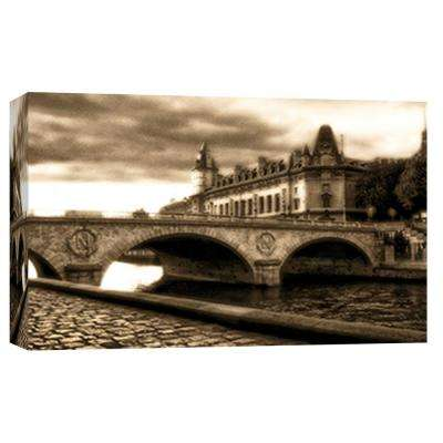 10 in. x 12 in. ''Bridge on The Seine'' Printed Canvas Wall Art